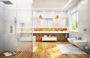 Beautiful bathroom in modern style