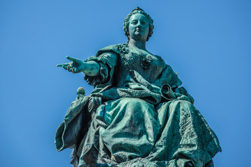 Maria Theresia Monument, in Vienna, Austria.