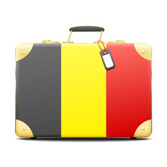 Patriotic Belgium suitcase in the color of the flag