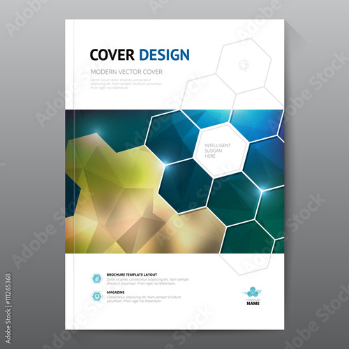 Green annual report Leaflet Brochure Flyer template A4 size design – Free Report Cover Templates
