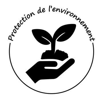 Logo protection de l'environnement.