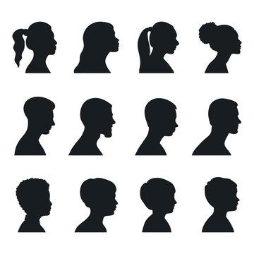 Black silhouette people