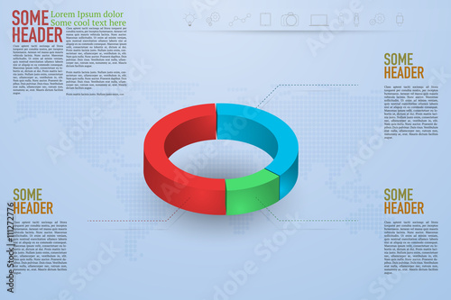 Modern 3d pie chart infographics on blue gradient background with modern 3d pie chart infographics on blue gradient background with dotted world map and outline icons gumiabroncs Choice Image