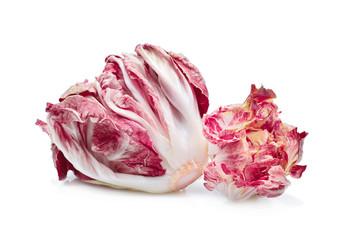 radicchio, red salad isolate on white background