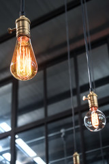 decorative antique edison style light bulbs with factory materia