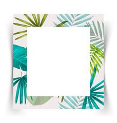 tropical leaf card