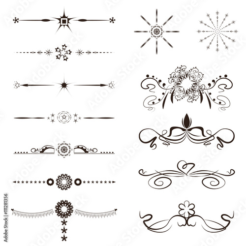 Calligraphy Borders Vector Images