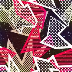 Retro fabric seamless pattern.