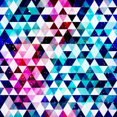 Grunge triangle seamless pattern.