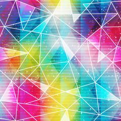 rainbow triangle seamless pattern