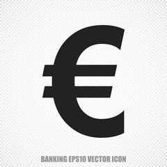 Banking vector Euro icon. Modern flat design.