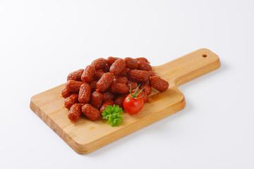 mini dry Polish sausages