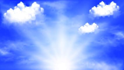 sun glare in the sky