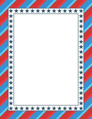 American themed patriotic border design