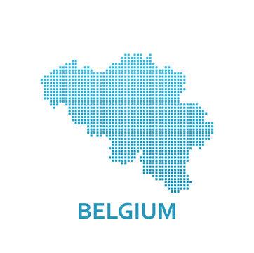 Pixel Map of Belgium