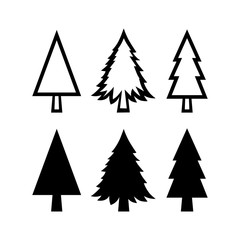 Set of Fir Tree Icons