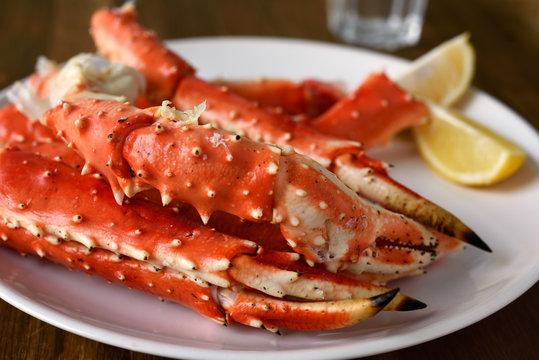 Red king crab legs