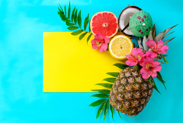 Summer tropical fruits