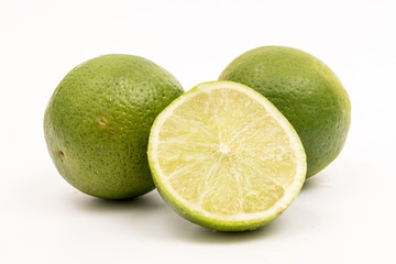 lime white background limette