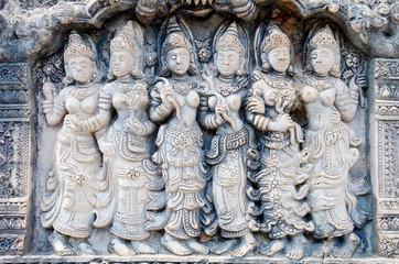 Apsara stone carved