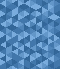 Tile vector background with blue triangle geometric mosaic