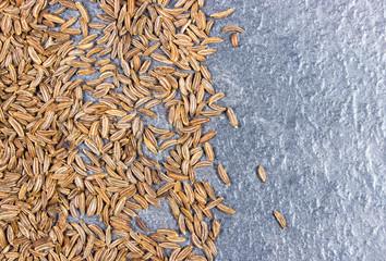 Close up of cumin seeds. Spice.