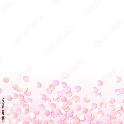 Seamless border of pink realistic confetti design template for seamless border of pink realistic confetti design template for gift certificate voucher yadclub Gallery
