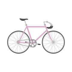 Bicycle in flat style.