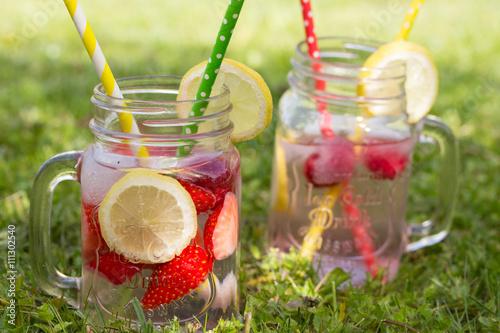 Erfrischungsgetränke im Sommer\