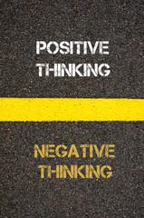 Antonym concept of NEGATIVE THINKING versus POSITIVE THINKING