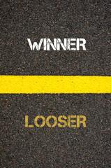 Antonym concept of LOOSER versus LOOSER
