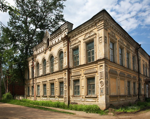 Former City Government in Bezhetsk. Russia