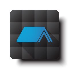 Flat Roof icon on black app button with drop shadow