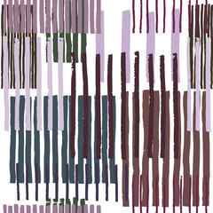 Striped geometric seamless vector pattern. Hand drawn uneven blocks of vertical stripes , free layout. Colors of mystic grey and purple, on white background. Textile design.