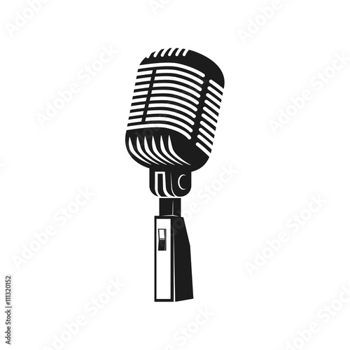 quotmicrophone monochrome icon element for logo label