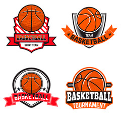 Set of  basketball labels and logos and design elements for bask
