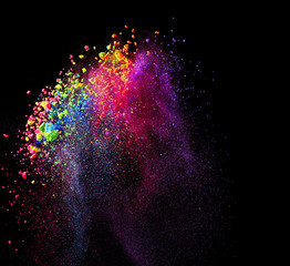 Splash of colorful paint