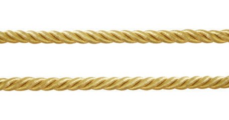 gold  rope isolated on white background