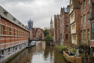 view of channel in Ghent, Belgium