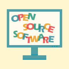 Wall Mural - open source software letters