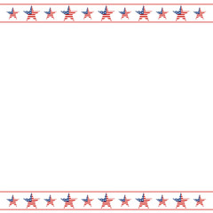American patriotic frame with empty space on center. A tradition