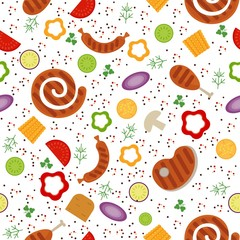 bbq seamless color pattern