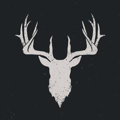 Deer head silhouette invert