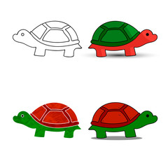 Sea turtle symbol for download. Vector icons