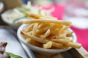 french fries detail
