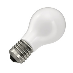 Light bulb, isolated on white 3D Illustration