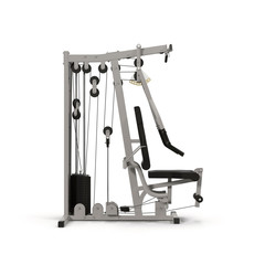 Multifunction Gym Machine on White 3D Illustration