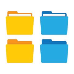 File folder in flat style. - fototapety na wymiar