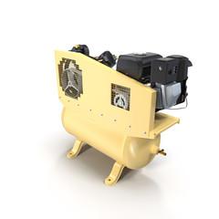 Piston Air Compressor on White 3D Illustration