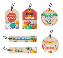 Set of Back to school tag